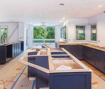Templating kitchen countertops